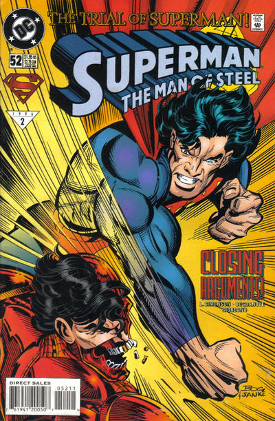Cover for Superman: The Man of Steel (1991 series) #52