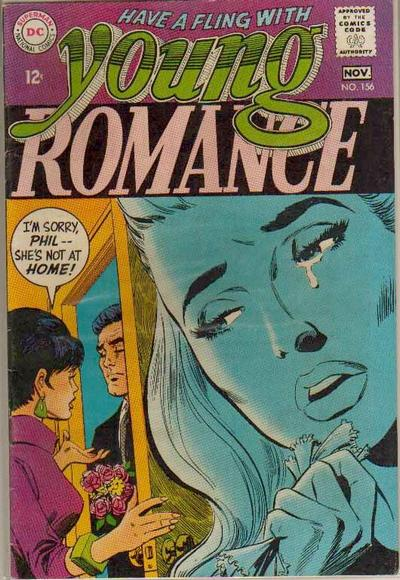 Cover for Young Romance (DC, 1963 series) #156