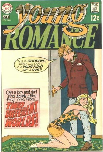 Cover for Young Romance (DC, 1963 series) #160