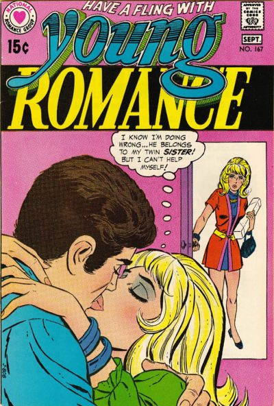 Cover for Young Romance (DC, 1963 series) #167