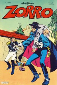 Cover Thumbnail for Zorro (Hjemmet, 1980 series) #1/1981