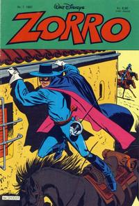 Cover Thumbnail for Zorro (Hjemmet / Egmont, 1980 series) #7/1981