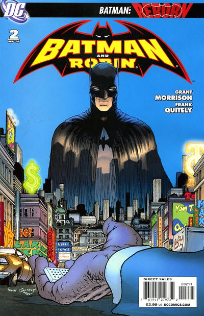 Cover for Batman and Robin (DC, 2009 series) #2 [4th Printing - Black Background]