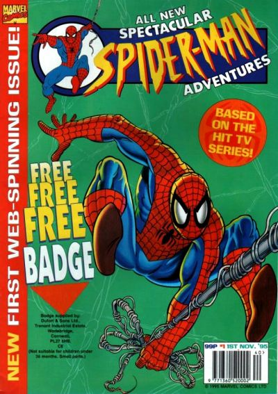 Cover for Spectacular Spider-Man Adventures (Panini UK, 1995 series) #1