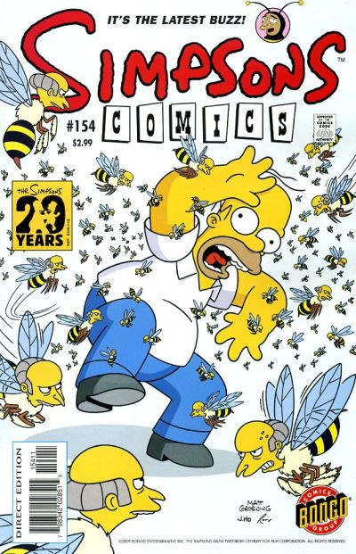 Cover for Simpsons Comics (Bongo, 1993 series) #154