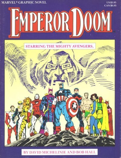 Cover for Marvel Graphic Novel: Emperor Doom -- Starring the Mighty Avengers (Marvel, 1987 series)