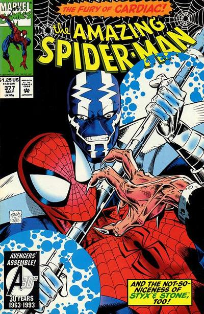 Cover for The Amazing Spider-Man (Marvel, 1963 series) #377 [Direct Edition]