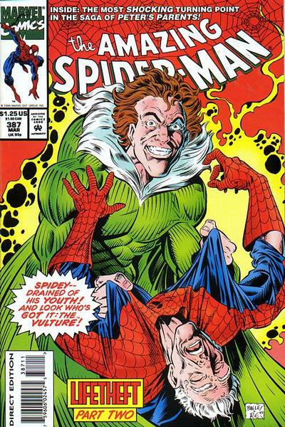 Cover for The Amazing Spider-Man (Marvel, 1963 series) #387 [Direct Edition]
