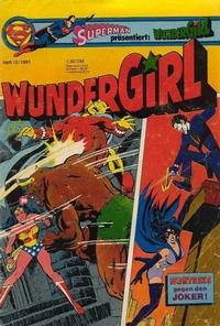 Cover Thumbnail for Wundergirl (Egmont Ehapa, 1976 series) #12/1981