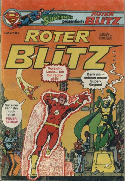 Cover for Roter Blitz (Egmont Ehapa, 1976 series) #4/1981