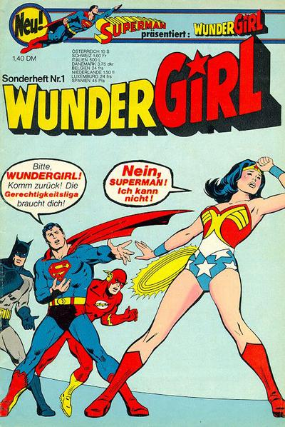 Cover for Wundergirl (Egmont Ehapa, 1976 series) #1