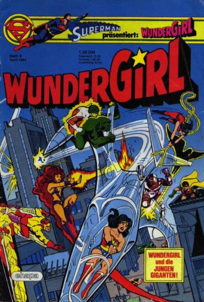 Cover for Wundergirl (Egmont Ehapa, 1976 series) #4/1982