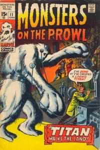 Cover for Monsters on the Prowl (1971 series) #11
