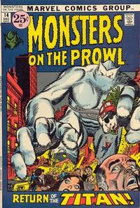 Cover Thumbnail for Monsters on the Prowl (Marvel, 1971 series) #14