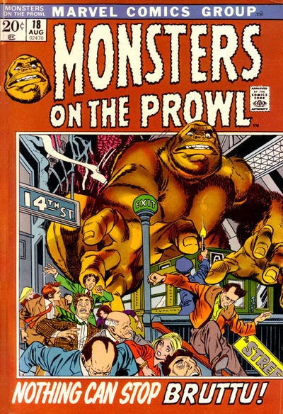 Cover for Monsters on the Prowl (1971 series) #18