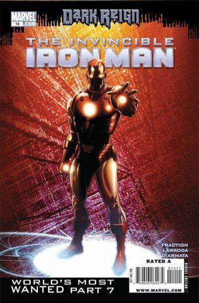 Cover for Invincible Iron Man (2008 series) #14 [Second Printing]