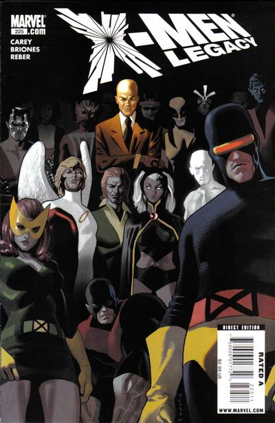 Cover for X-Men: Legacy (Marvel, 2008 series) #225 [Second Printing]