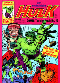 Cover Thumbnail for Der unglaubliche Hulk (Condor, 1980 series) #15