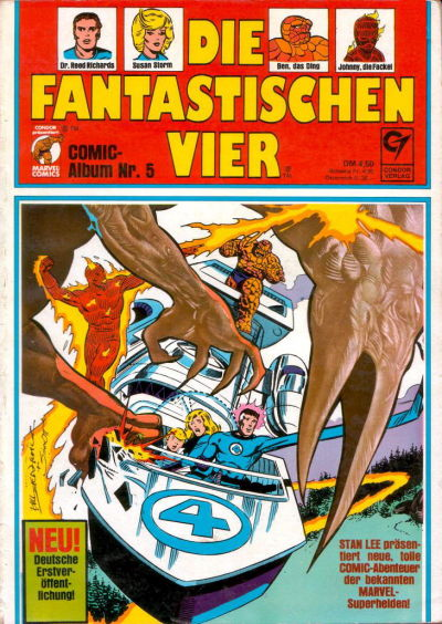 Cover for Die Fantastischen Vier (Condor, 1979 series) #5