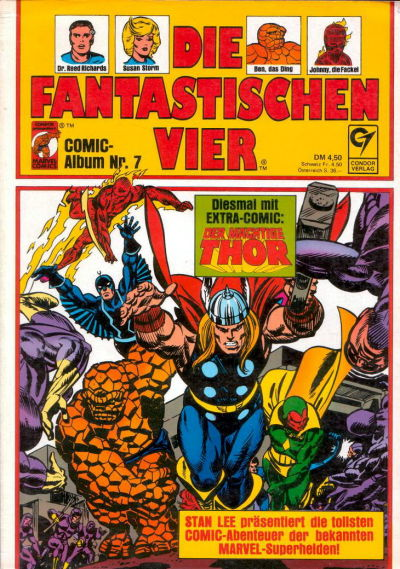 Cover for Die Fantastischen Vier (Condor, 1979 series) #7