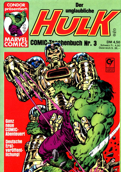 Cover for Der unglaubliche Hulk (1980 series) #3
