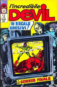 Cover Thumbnail for L' Incredibile Devil (Editoriale Corno, 1970 series) #43