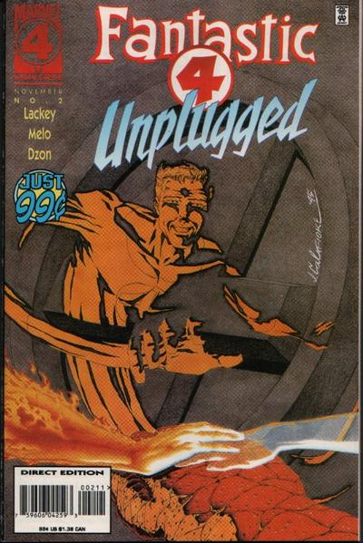 Cover for Fantastic Four Unplugged (Marvel, 1995 series) #2