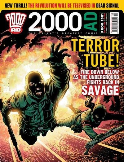 Cover for 2000 AD (Rebellion, 2001 series) #1581