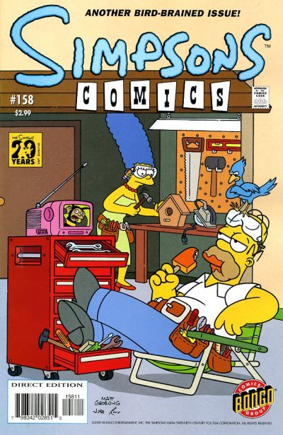 Cover for Simpsons Comics (1993 series) #158