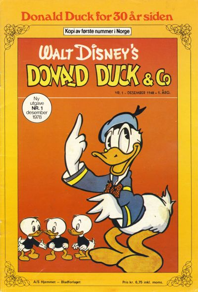 Cover for Donald Duck for 30 år siden (1978 series) #1/1978 [2. opplag]