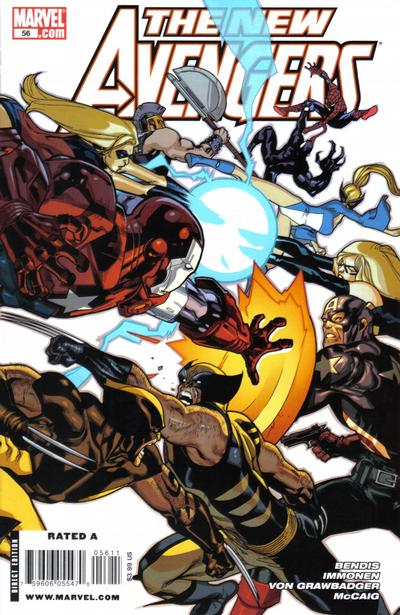 Cover for New Avengers (Marvel, 2005 series) #56