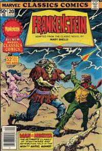 Cover Thumbnail for Marvel Classics Comics (Marvel, 1976 series) #20 - Frankenstein