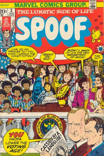 Cover for Spoof (Marvel, 1970 series) #3