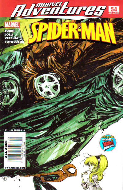 Cover for Marvel Adventures Spider-Man (Marvel, 2005 series) #54 [Newsstand Edition]