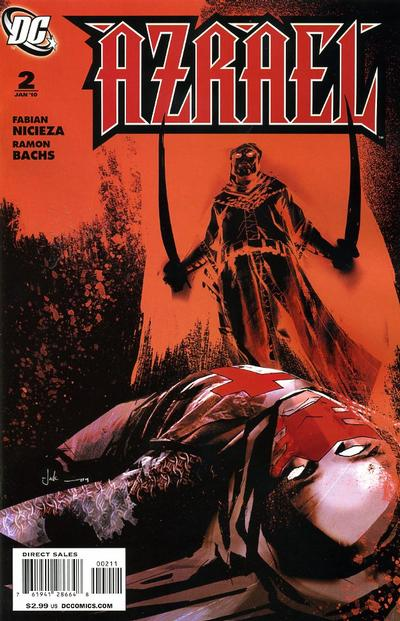 Cover for Azrael (DC, 2009 series) #2