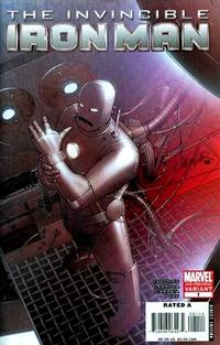 Cover for Invincible Iron Man (Marvel, 2008 series) #1 [Joe Quesada Cover]