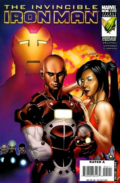 Cover for Invincible Iron Man (2008 series) #5 [Salvador Larroca Cover]
