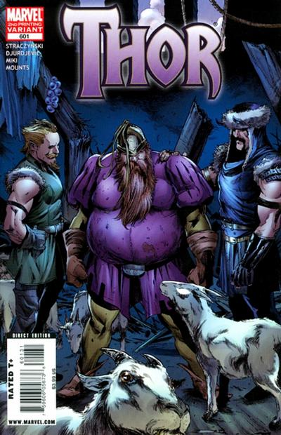 Cover for Thor (Marvel, 2007 series) #601 [Second Printing]
