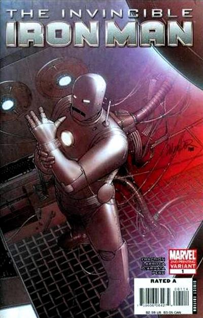 Cover for Invincible Iron Man (2008 series) #1 [Wizard World Philly Exclusive Variant Sketch Cover]