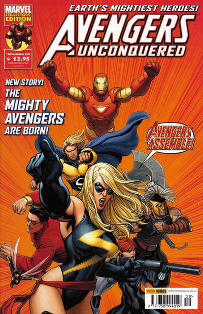 Cover for Avengers Unconquered (Panini UK, 2009 series) #9