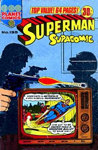 Cover Thumbnail for Superman Supacomic (K. G. Murray, 1959 series) #195
