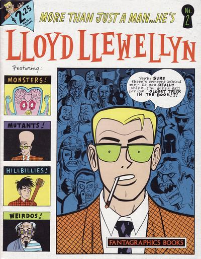 Cover for Lloyd Llewellyn (Fantagraphics, 1986 series) #2