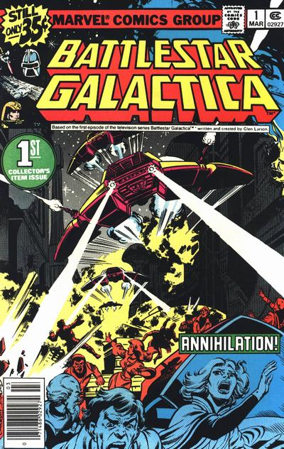 Cover for Battlestar Galactica (Marvel, 1979 series) #1 [non-newsstand bagged]
