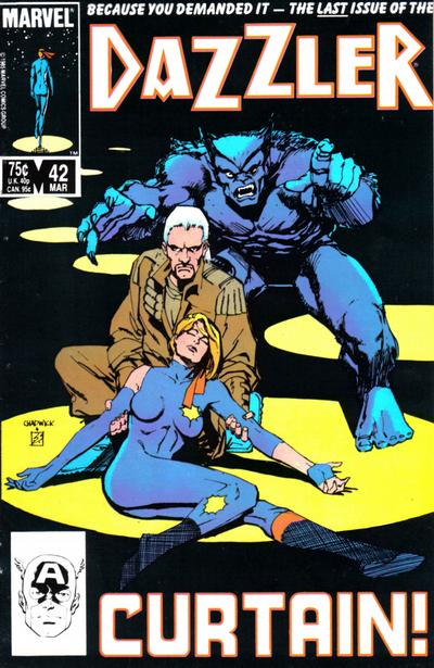 Cover for Dazzler (Marvel, 1981 series) #42 [Newsstand Edition]