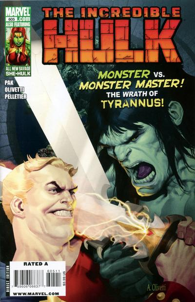 Cover for Incredible Hulk (2009 series) #605 [70 Years of Marvel Variant Edition]