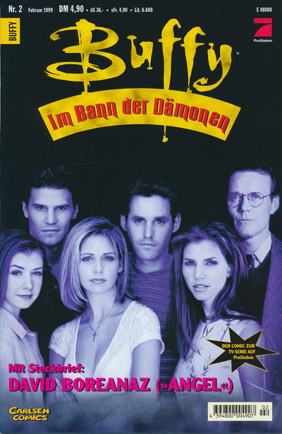 Cover for Buffy (Carlsen Comics [DE], 1998 series) #2