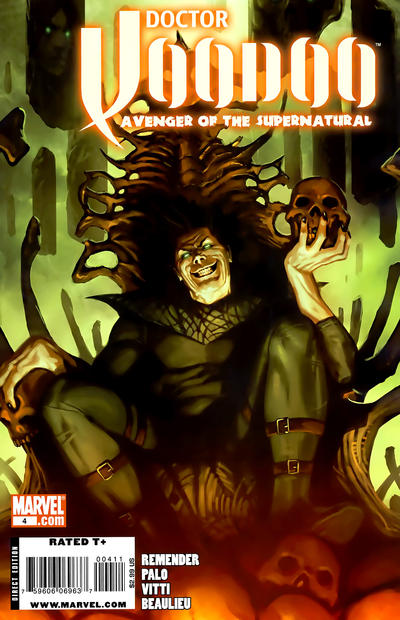Cover for Doctor Voodoo: Avenger of the Supernatural (Marvel, 2009 series) #4