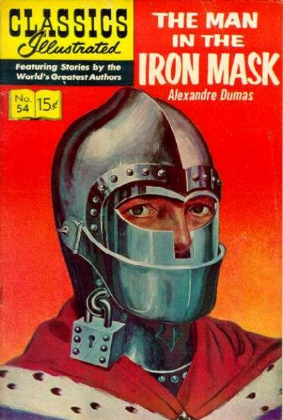 Cover for Classics Illustrated (Gilberton, 1947 series) #54 [HRN142] - The Man in the Iron Mask