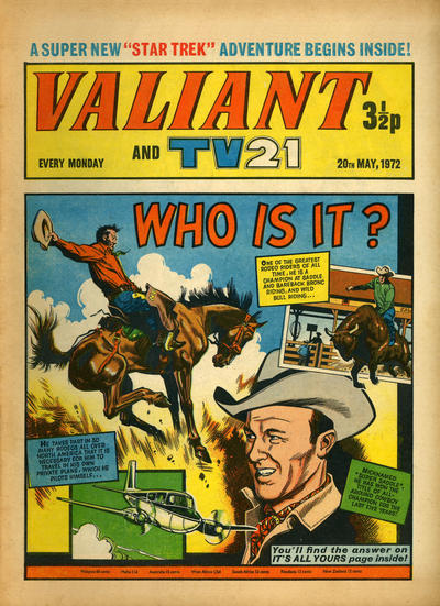 Cover for Valiant and TV21 (IPC, 1971 series) #20th May 1972