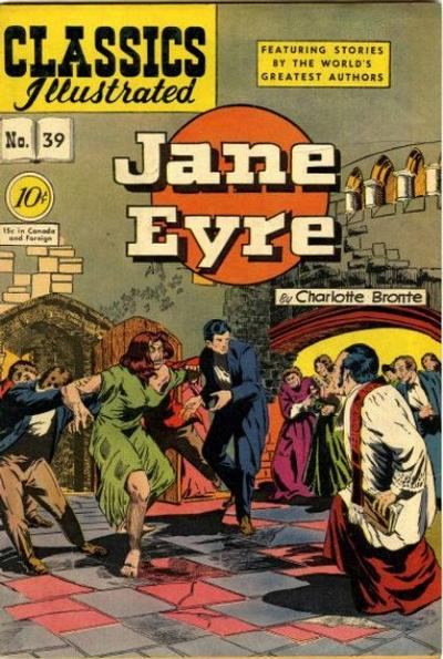Cover for Classics Illustrated (Gilberton, 1947 series) #39 [0] - Jane Eyre